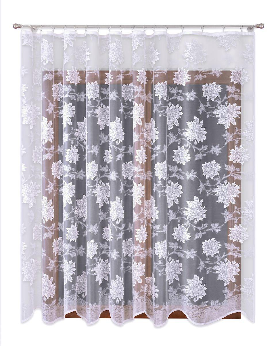 Тюль P Primavera Firany, цвет: белый, высота 270 см. 11101621110162Тюль жаккардовая с пришитой шторной лентой. Размер: ширина 500см высота 270см. Цвет белый. Размер: ширина 500 х высота 270