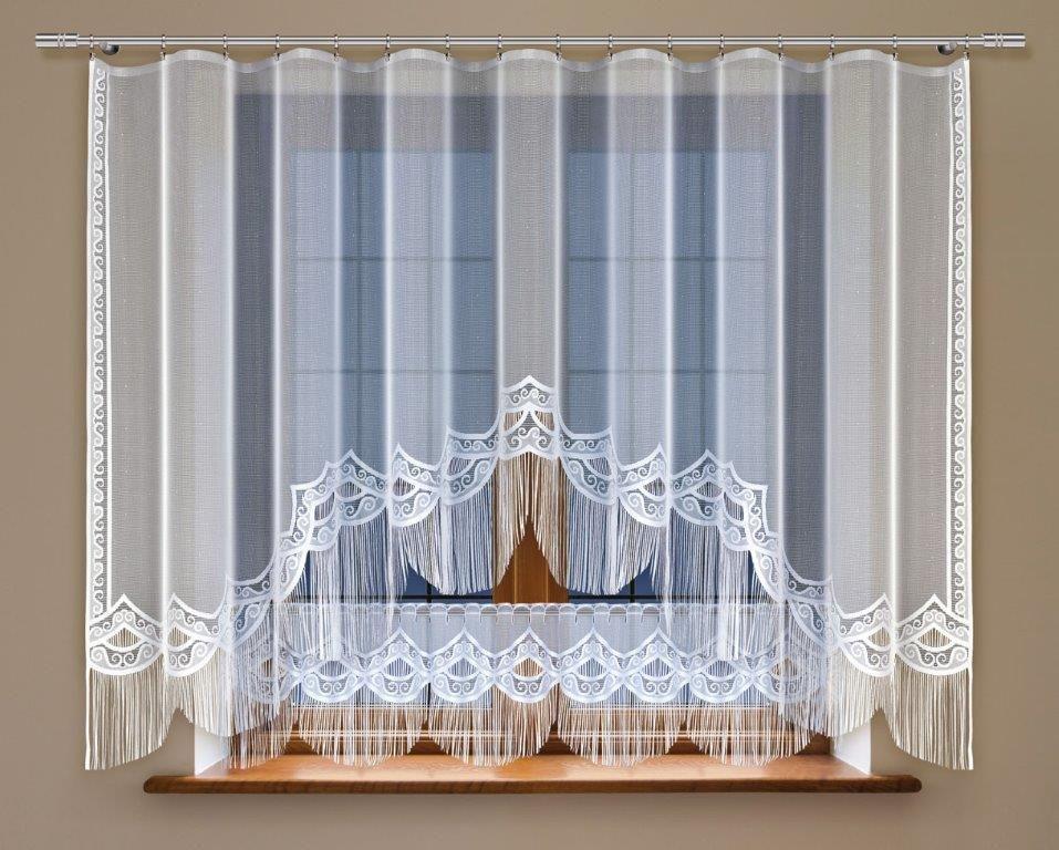 Комплект гардин Haft, на ленте, цвет: белый, 2 шт. 213240213240Комплект штор для кухни Haft великолепно украсит любое окно. Комплект состоит из двух гардин, выполненных из полиэстера. Изделие органично впишется в интерьер помещения. Комплект крепится на карниз при помощи ленты, которая поможет красиво и равномерно задрапировать верх.
