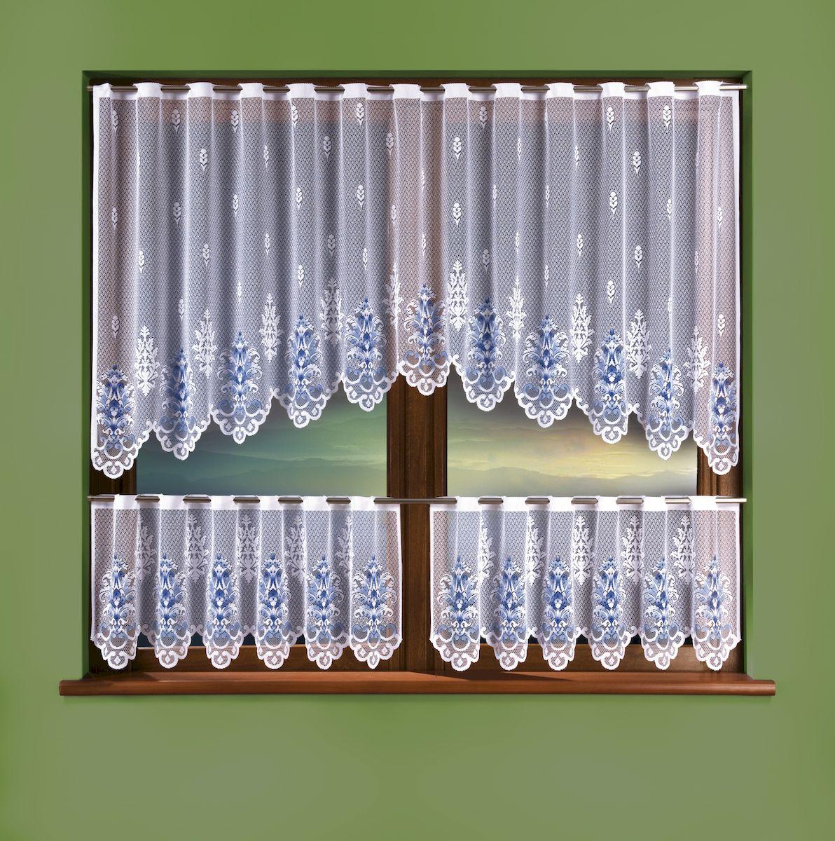 Комплект штор для кухни Wisan, цвет: белый, высота 15 см, 100 см. 33243324Комплект для кухни: высота 100х ширина 250 + высота 45х ширина 125 2 штуки, крепление на штангу. Размер: высота 100 x ширина 250 + (высота 45 x ширина 125) x 2