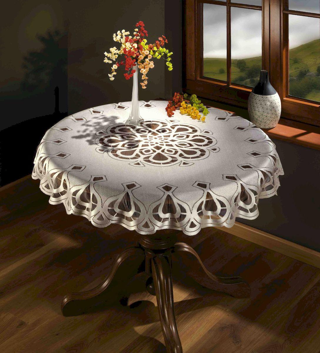 Скатерть Wisan, цвет: белый, 125x125 см. 89678967Скатерть жаккардовая, бережная стирка при t не более 40С, деликатный режим.