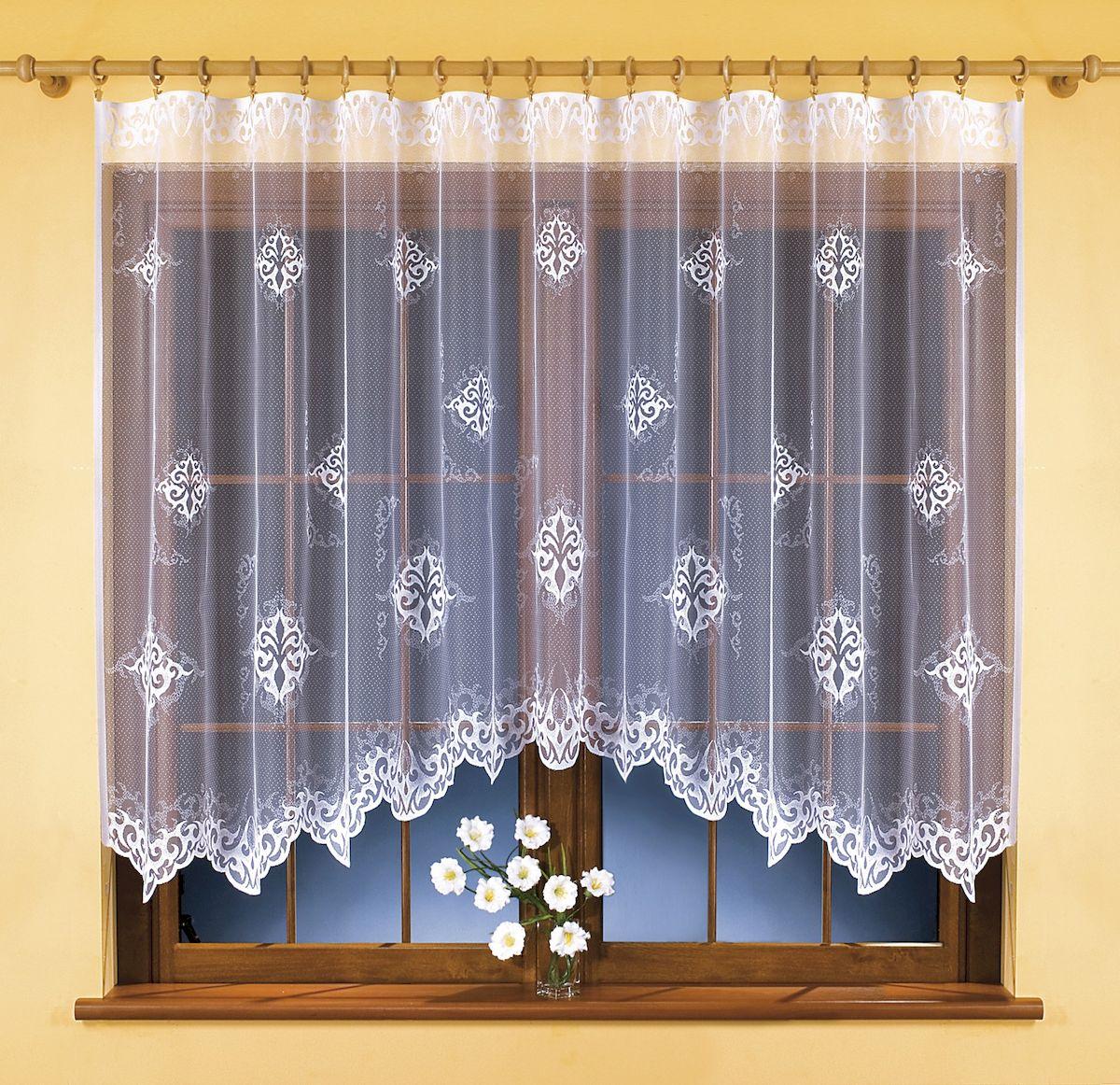 Гардина Wisan, цвет: белый, высота 150 см. 98539853Воздушная гардина-арка Wisan, изготовленная из 100% полиэстера, станет великолепным украшением любого окна. Изящный цветочный узор и текстура ткани привлекут к себе внимание и органично впишутся в интерьер комнаты. Оригинальное оформление гардины внесет разнообразие и подарит заряд положительного настроения. Крепится при помощи шторной ленты.