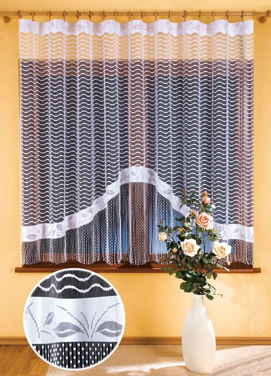 Гардина Wisan Gracjana, цвет: белый, высота 180 см. 99069906Жаккардовая гардина-арка с цветным рисунком. Крепится на зажимы для штор Размер: ширина 300 x высота 180