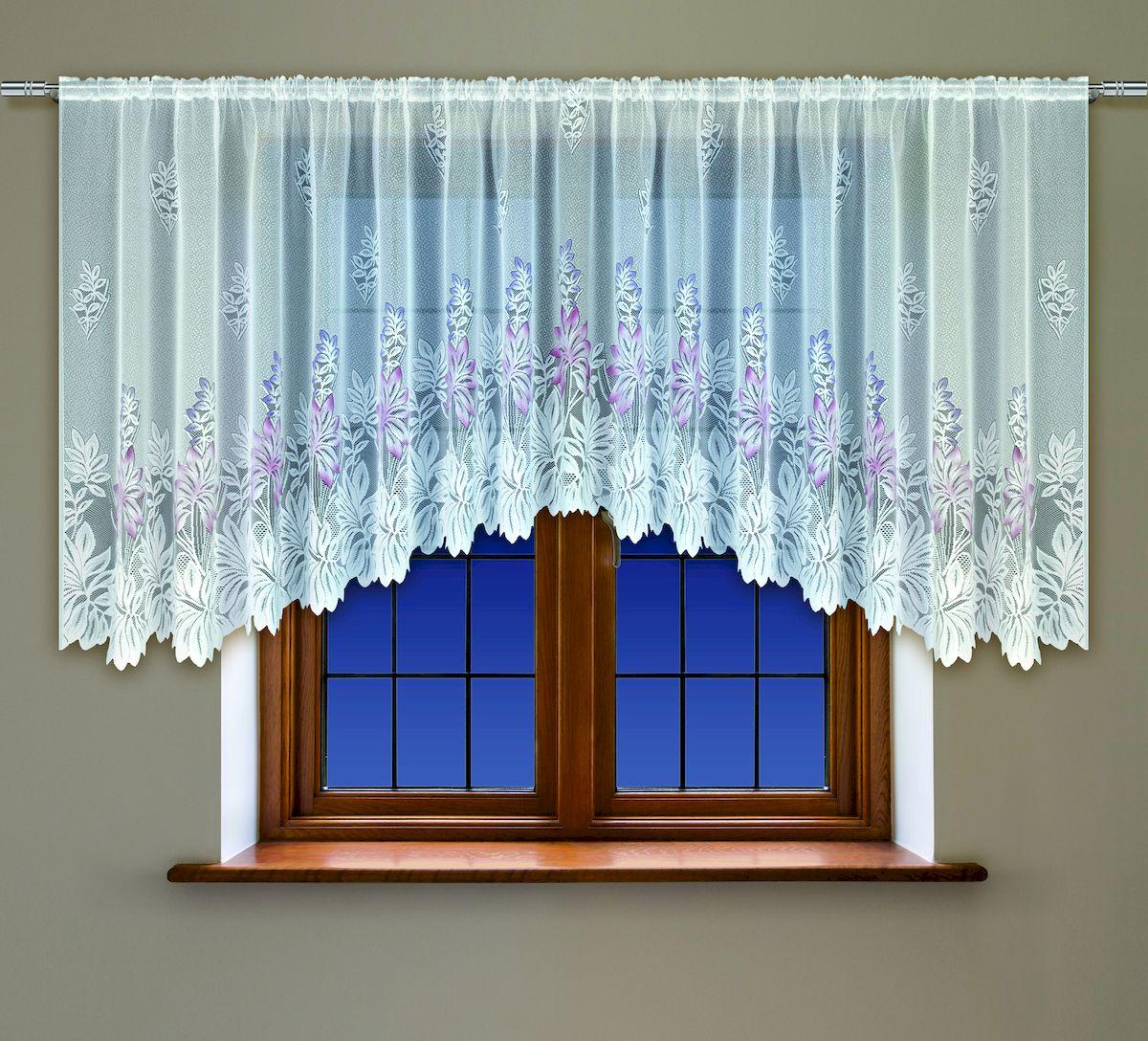 Гардина Haft, на кулиске, цвет: белый, высота 137 см. 200530200530/137Воздушная гардина Haft, выполненная из полиэстера, великолепно украсит любое окно. Изделие имеет оригинальный дизайн и органично впишется в интерьер помещения. Гардина крепится на карниз при помощи кулиски.