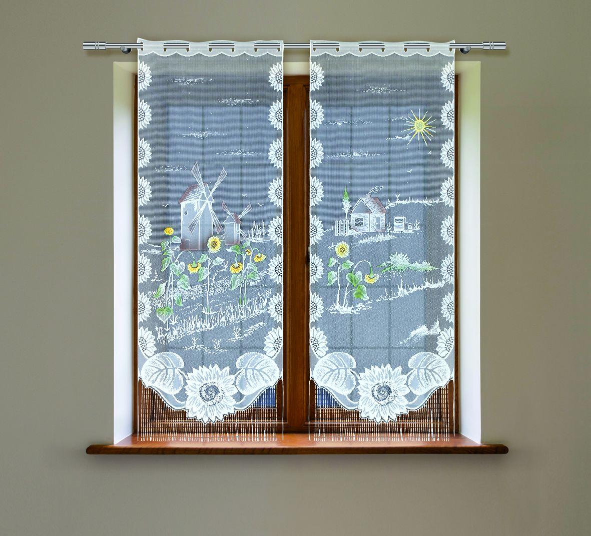 Комплект гардин Haft, на петлях, цвет: белый, высота 160 см, 2 шт. 21520С21520С/60Воздушные гардины Haft великолепно украсят любое окно. Комплект состоит из двух гардин, выполненных из полиэстера. Изделие имеет оригинальный дизайн и органично впишется в интерьер помещения. Комплект крепится на карниз при помощи петель.
