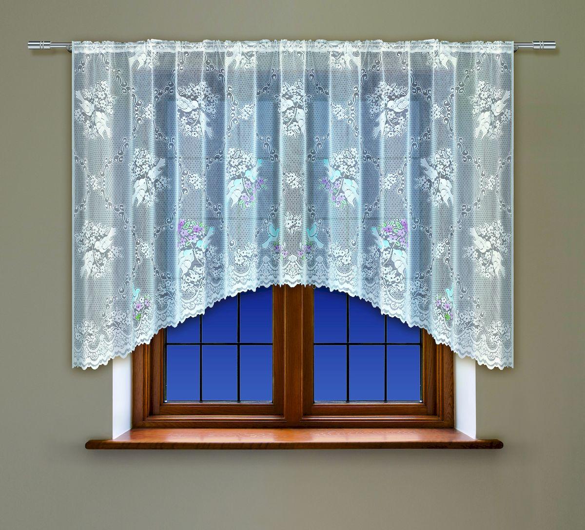 Гардина Haft, на кулиске, цвет: белый, высота 160 см. 222161222161/160Воздушная гардина Haft, выполненная из полиэстера, великолепно украсит любое окно. Изделие имеет оригинальный дизайн и органично впишется в интерьер помещения. Гардина крепится на карниз при помощи кулиски.