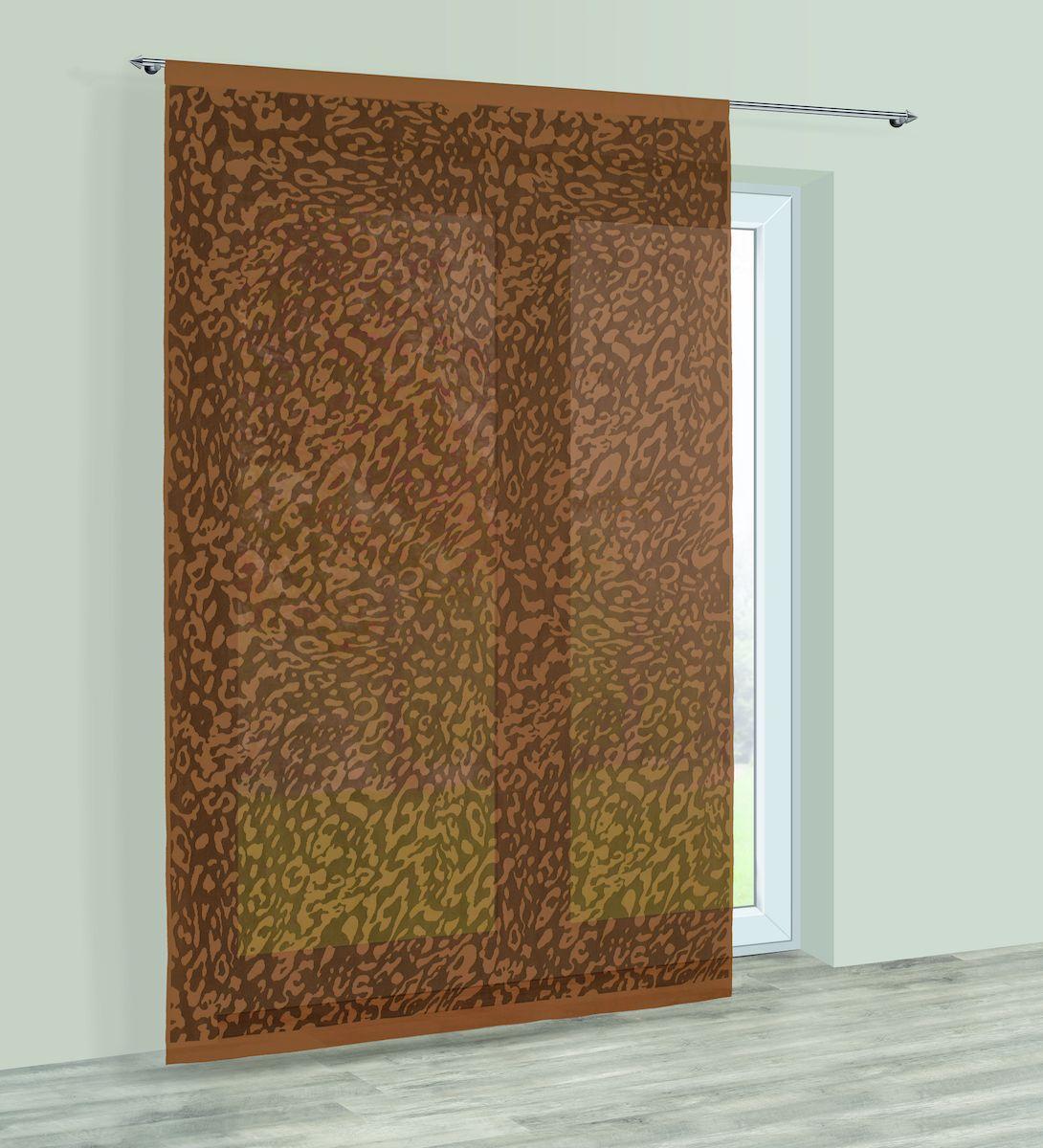 Гардина Haft, на кулиске, цвет: шоколадный, высота 250 см. 228540228540/250 шоколадГардина Haft великолепно украсит любое окно. Изделие выполнено из полиэстера и декорировано под окрас животного. Изделие имеет оригинальный дизайн и органично впишется в интерьер помещения. Гардина крепится на карниз при помощи кулиски.