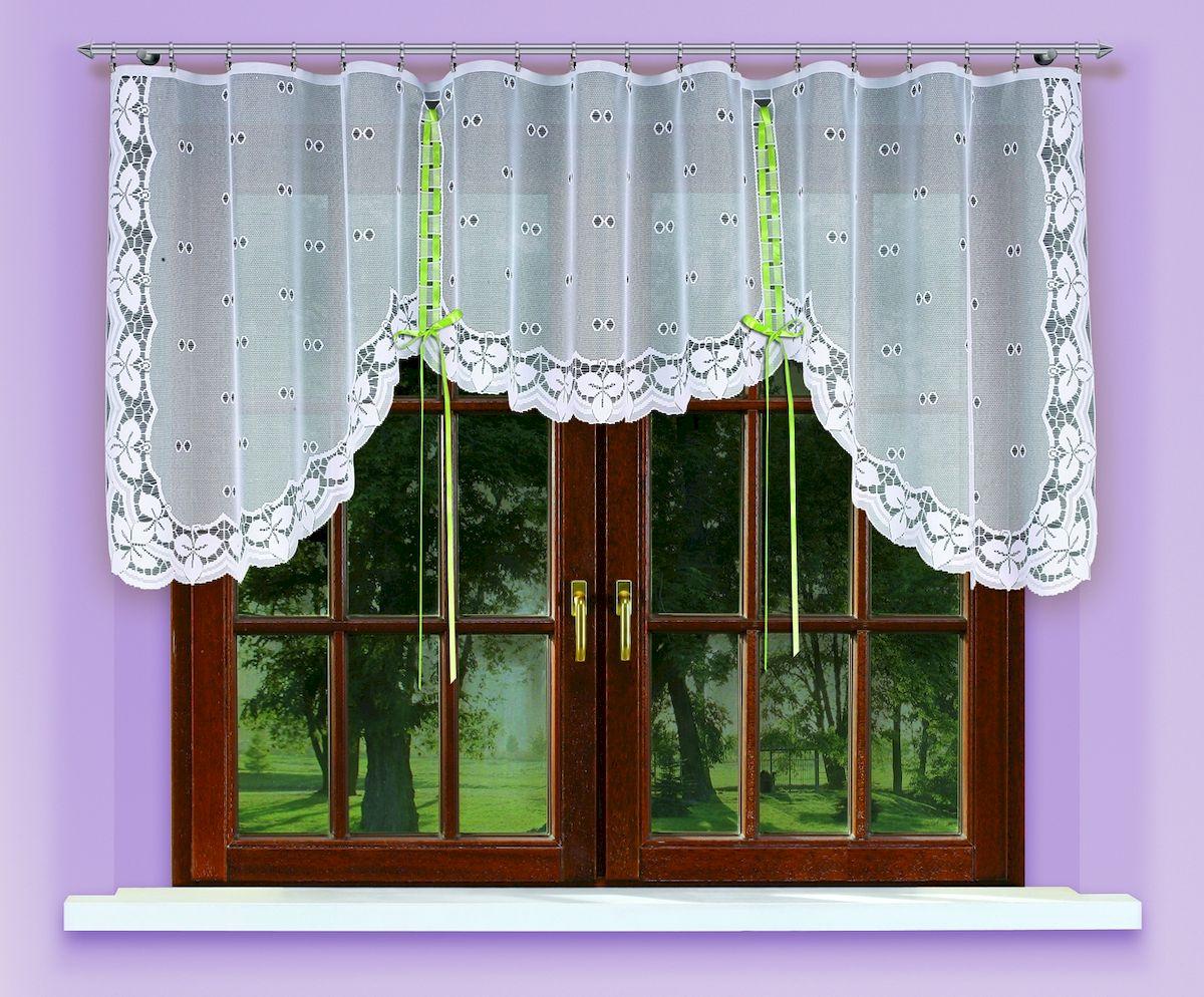 Гардина Haft, на ленте, цвет: белый, высота 120 см. 5460054600/120Гардина Haft, изготовленная из полиэстера, станет великолепным украшением любого окна. Тонкое плетение и оригинальный дизайн привлекут к себе внимание. Изделие органично впишется в интерьер. Гардина крепится на карниз при помощи ленты, которая поможет красиво и равномерно задрапировать верх.