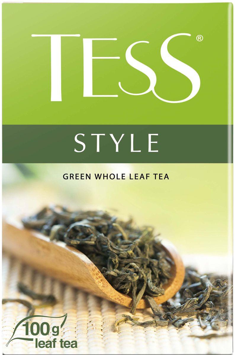 Tess Style зеленый листовой чай, 100 г0589-14Природный букет благородного зеленого чая из провинции Фудзянь раскрывается во всем великолепии: насыщенный, но легкий вкус, воздушный цветочный аромат, настой цвета светлого нефрита и долгое, с нотами сладости, послевкусие.
