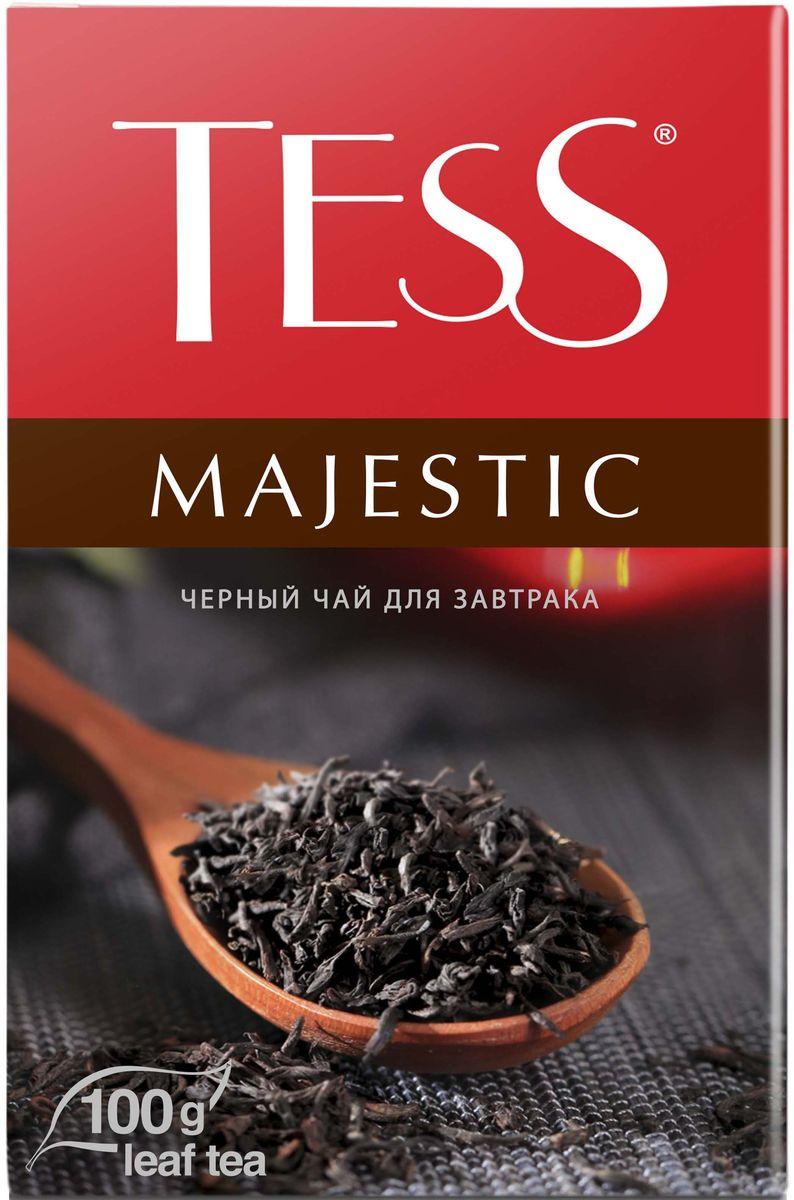 Tess Magestic черный листовой чай, 100 г1165-15Виртуозный купаж изысканных сортов черного чая из Цейлона, Индии и Кении. Благородный цейлонский чай, выращенный в мягком климате предгорных плантаций, наполняет гамму глубокими пряными оттенками, а уникальный северо-индийский чай Дарджилинг вносит в букет характерные мускатные штрихи и чудесный аромат с цветочными нотами.