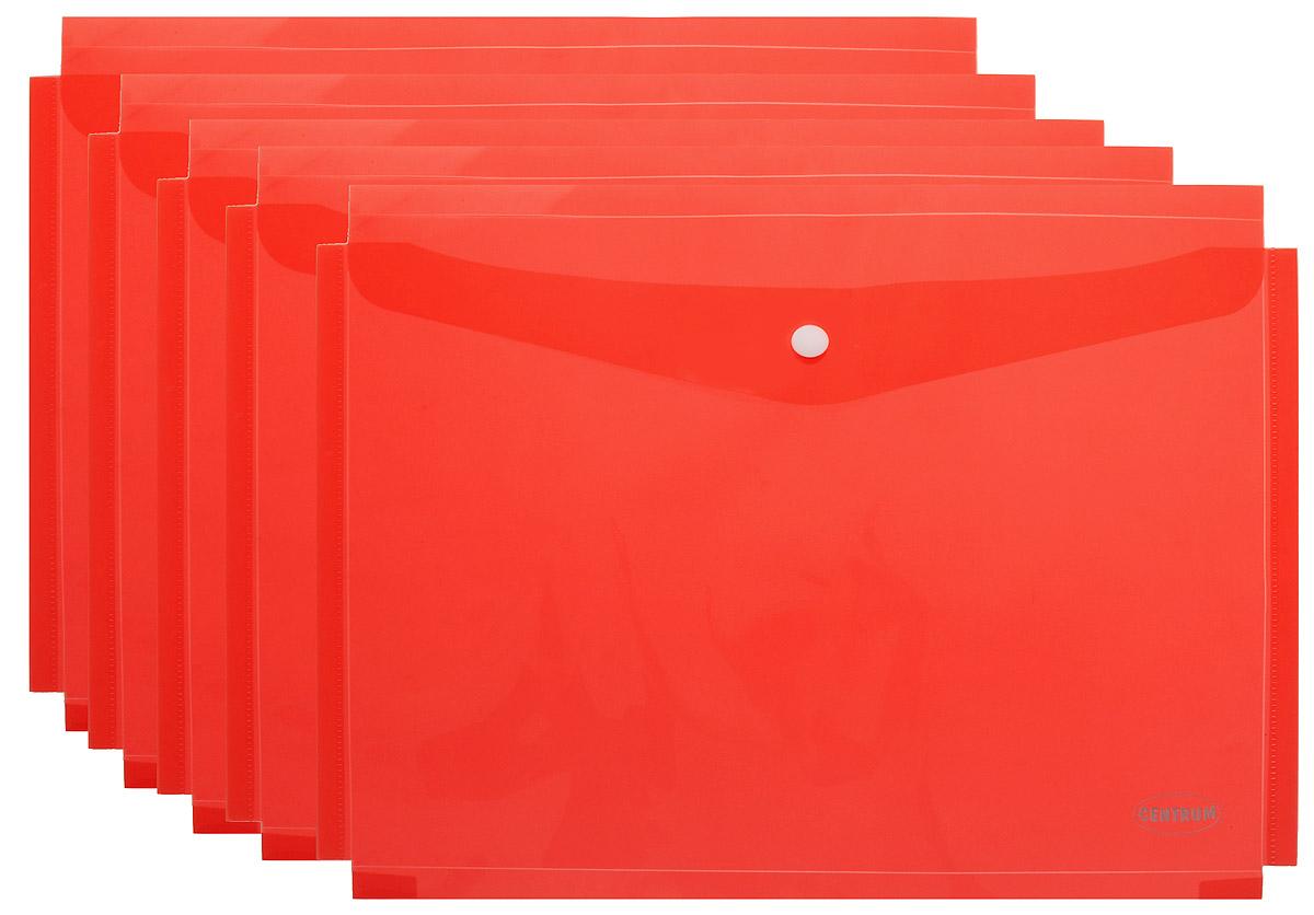 Centrum Папка-конверт на кнопке цвет красный 5 шт80047_красныйПапка-конверт на кнопке Centrum - это удобный и функциональный офисный инструмент, предназначенный для хранения и транспортировки рабочих бумаг и документов формата А4. Папка изготовлена из полупрозрачного пластика красного цвета, закрывается клапаном на кнопке. В комплект входят 5 папок. Папка-конверт - это незаменимый атрибут для студента, школьника, офисного работника. Такая папка надежно сохранит ваши документы и сбережет их от повреждений, пыли и влаги.