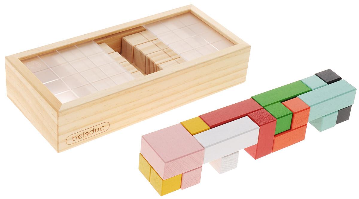 Beleduc Обучающая игра Магический куб21002Обучающая игра Beleduc Магический куб - это своеобразный 3D лабиринт. Игра способствует развитию у ребенка пространственного мышления. Лобная часть человеческого мозга, отвечающая за обработку геометрической и пространственной информации, отображает внутри визуально воспринимаемые образы. Так как в основе игры лежит идея построения блоков, то игра направлена на улучшение деятельности мозга ребенка и развитие у него пространственного мышления. Развитое пространственное мышление способствует, в свою очередь, развитию визуального мышления и сенсорики, что позволяет ребенку воспроизводить те или иные изображения в пространстве, линиях и направлении, тем самым активизируя его познавательные и творческие способности. Игра имеет запатентованный товарный знак и восемь блоков, каждый из которых состоит из пяти прочных кубов. Передвигая подвижные части корпуса игры, как указано в инструкции, игрок может постепенно переходить на более сложные уровни игры, таким образом, постепенно оттачивая...