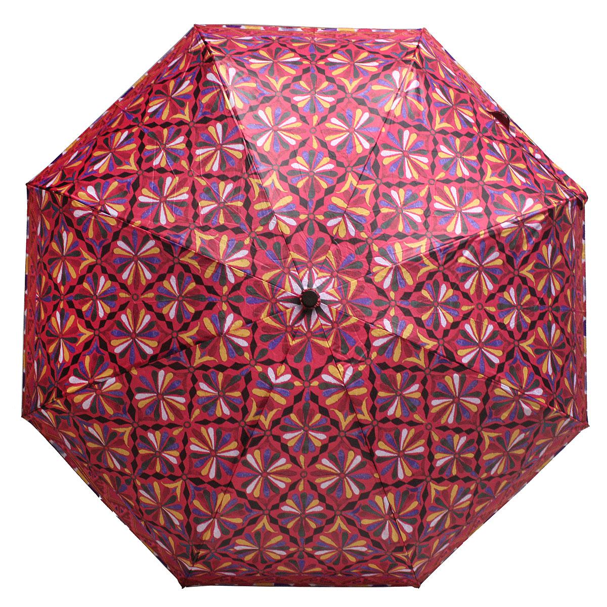 Зонт женский Bisetti, цвет: бордовый. 35167-135167-1Стильный зонт автомат испанского производителя Bisetti даже в ненастную погоду позволит вам оставаться элегантной. В производстве зонтов Bisetti используются современные материалы, что делает зонты легкими, но в то же время крепкими. Каркас зонта включает 7 спиц. Стержень изготовлен из стали, купол выполнен из прочного полиэстера. Зонт является механическим: купол открывается и закрывается вручную до характерного щелчка.