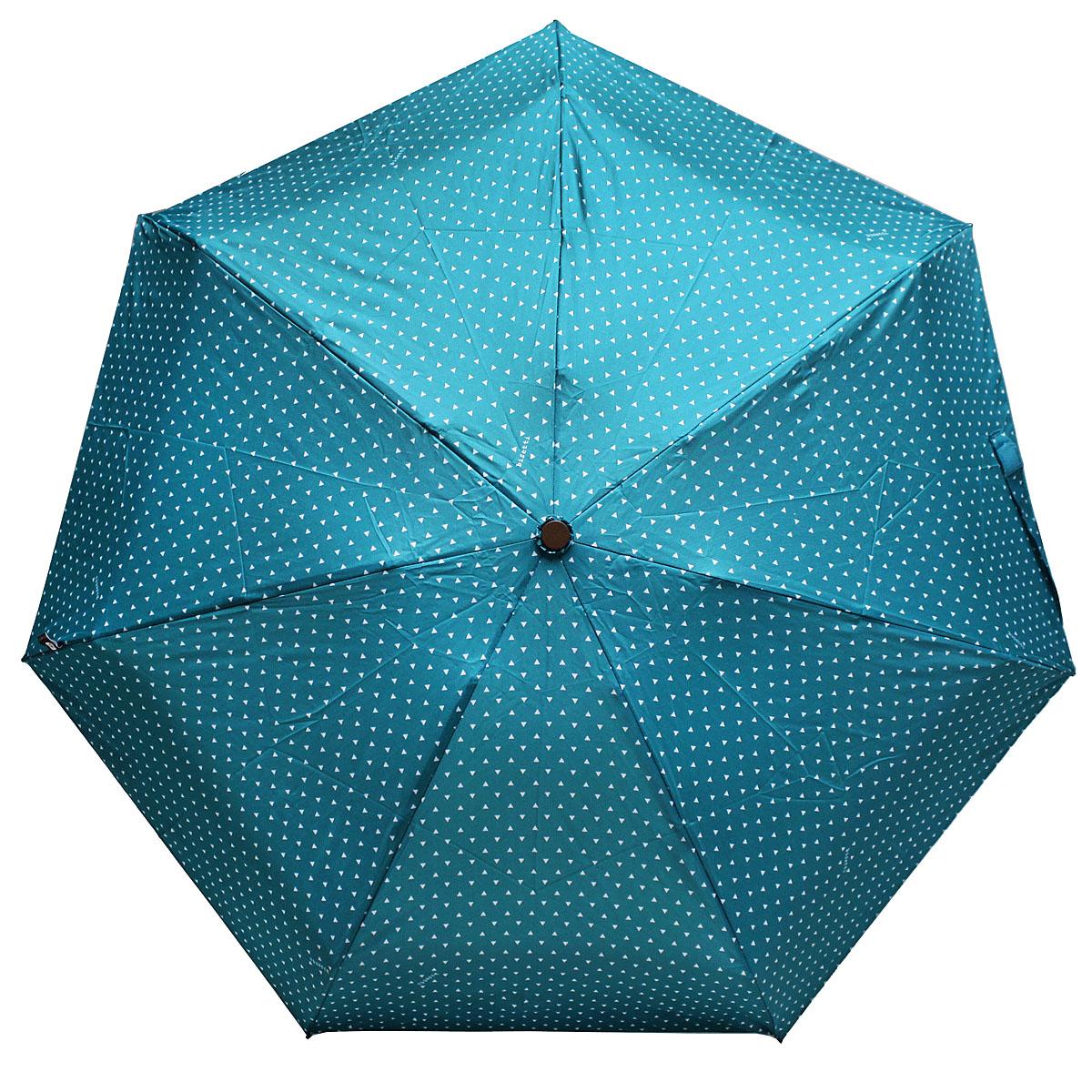 Зонт женский Bisetti, цвет: бирюзовый. 3598-43598-4Стильный зонт автомат испанского производителя Bisetti даже в ненастную погоду позволит вам оставаться элегантной. В производстве зонтов Bisetti используются современные материалы, что делает зонты легкими, но в то же время крепкими. Каркас зонта включает 7 спиц. Стержень изготовлен из стали, купол выполнен из прочного полиэстера. Зонт является механическим: купол открывается и закрывается вручную до характерного щелчка.