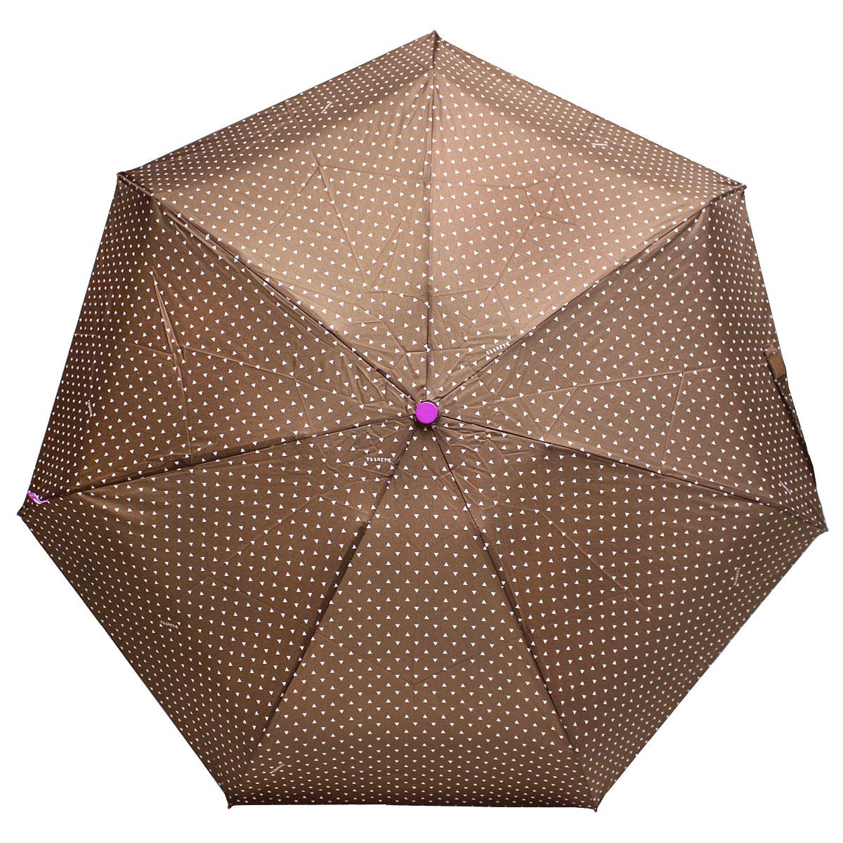 Зонт женский Bisetti, цвет: коричневый. 3598-33598-3Стильный зонт автомат испанского производителя Bisetti даже в ненастную погоду позволит вам оставаться элегантной. В производстве зонтов Bisetti используются современные материалы, что делает зонты легкими, но в то же время крепкими. Каркас зонта включает 7 спиц. Стержень изготовлен из стали, купол выполнен из прочного полиэстера. Зонт является механическим: купол открывается и закрывается вручную до характерного щелчка.