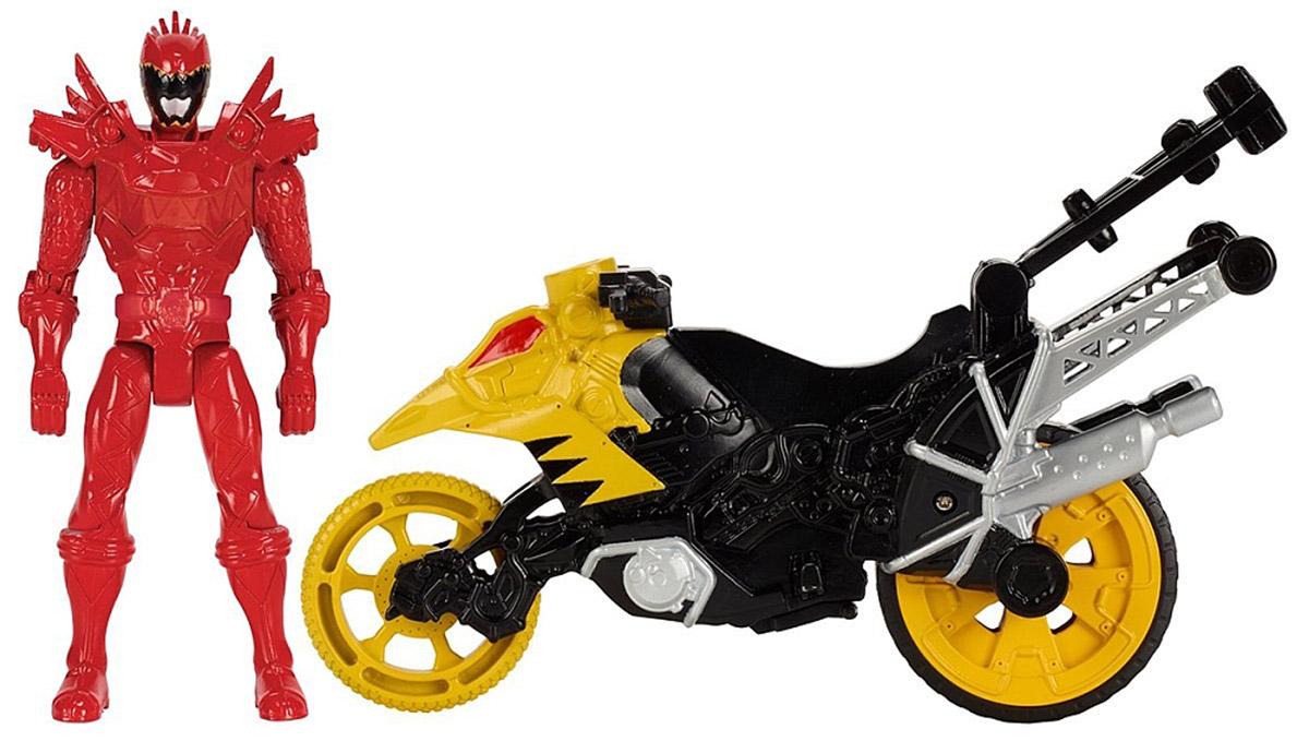 Power Rangers Фигурка Dino Stunt Bike And T-Rex Super Charge Red Ranger43070_43077Набор Power Rangers Могучие рейнджеры состоит из фигурки рейнджера и мотоцикла. Фигурка, выполненная из пластика в виде рейнджера в шлеме и специальном костюме, станет любимой игрушкой вашего ребенка. Руки, ноги и голова фигурки подвижны. У мотоцикла крутятся колеса, и поворачивается передняя часть. Фигурку можно посадить на мотоцикл и катать. Байк разбирается на две части, представляющие из себя дино зордов - динозавроподобных боевых роботов. Дино зорды этого набора комбинируются с другими игрушками серии Zord Builder. Игрушка выполнена по мотивам приключенческого фильма Power Rangers. Могучие рейнджеры - это новое поколение героев, которые унаследовали силу древних воинов и должны встать на защиту Земли. Эта игрушка обязательно понравится ребенку, он часами будет играть с ней, придумывая захватывающие истории для героев.