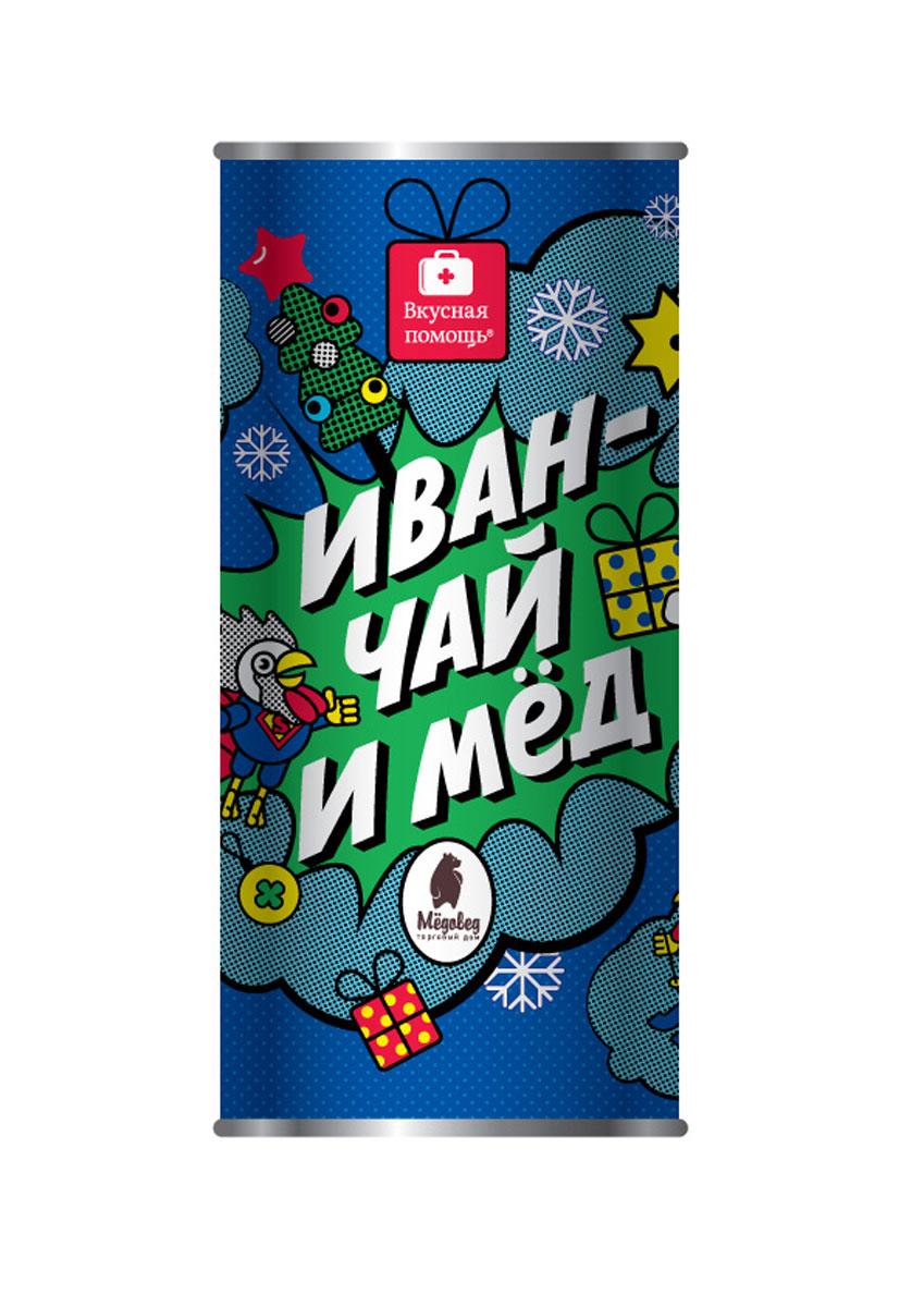 Вкусная помощь Набор меда с чаем Иван-чай и мед, 350 г