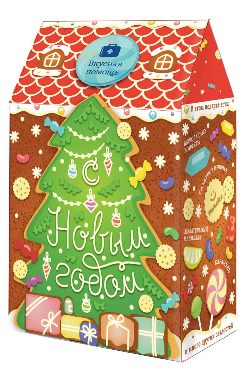 Вкусная помощь Детский подарок Домик с печеньем и карамелью, 336 гУТ-00001120Крутейший детский набор на Новый год со сладостями в удивительной дизайнерской упаковке в виде домика. Это набор по-настоящему новогодний, уютный и детский. Хотите порадовать своих малышей, тогда покупайте это подарок! ЧТО ВНУТРИ? В домике настоящий детский рай: круглые шоколадные конфеты с ореховой посыпкой, сливочной начинкой и тончайшей вафелькой ментоловая «Трость» – настоящая новогодняя карамель, символ Нового года Банка мармеладных золотых мишек «Для детей» Банка сливочного печенья в форме Мишек Наше дизайнерское печенье в дополнение к игре Мармевилль КРАСИВАЯ УПАКОВКА Очень качественная упаковка из плотного картона в виде домика. После того, как ребенок съест все конфеты, упаковку можно использовать как хранилище – очень ценное дополнение для детишек!