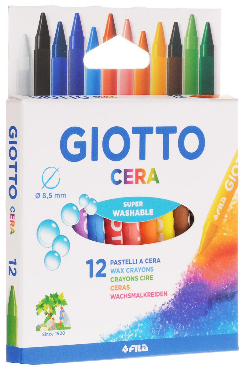 Giotto Восковые карандаши Cera 12 цветов281200Восковые карандаши Glotto Cera прекрасно подойдут для развития детского творчества. Карандаши изготовлены на основе полимерных восков, натуральных наполнителей и высококачественных пигментов. Они не пачкаются, не ломаются, прочные, без запаха. Карандаши отличаются яркими и насыщенными цветами, позволяют проводить мягкие и ровные штрихи. Легко стираются, не оставляют следов, отстирываются. Восковые карандаши помогут ребенку развить творческие способности, воображение, цветовосприятие, мелкую моторику рук, усидчивость и аккуратность. В комплекте 12 восковых карандашей, каждый из которых упакован с бумажную гильзу. Порадуйте своего ребенка таким восхитительным подарком!