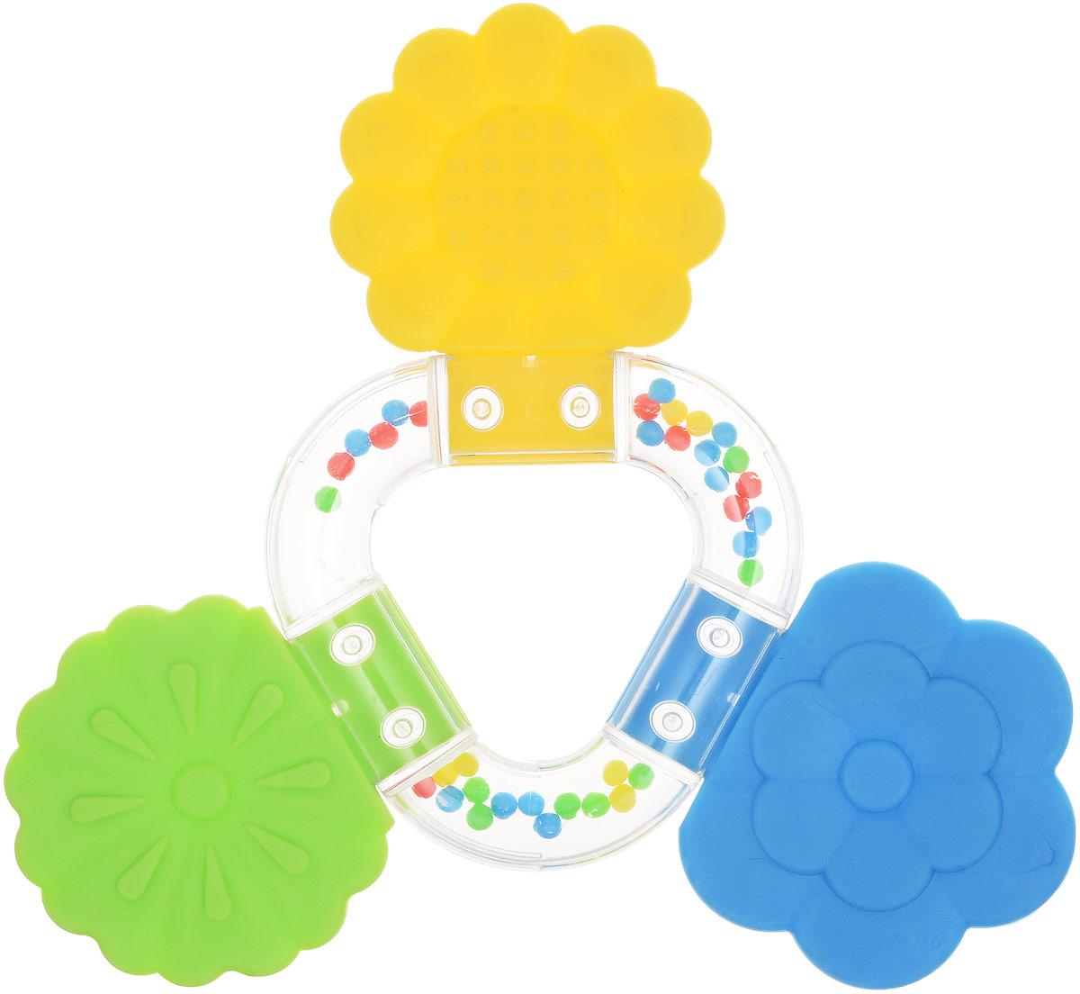 Stellar Прорезыватель Букетик4607038277389Погремушка - прорезыватель Букетик сделана из полистирола. Яркая игрушка издает приятный шелест и ее можно погрызть. Кроха сможет научиться различать цвета, а если у него начнут резаться зубки, он может погрызть эти красивые цветочки.