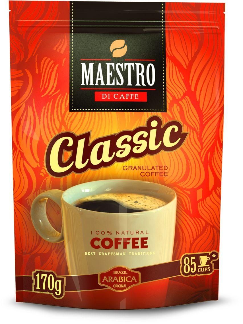 Maestro Di Caffe Classic кофе растворимый гранулированный, 170 г