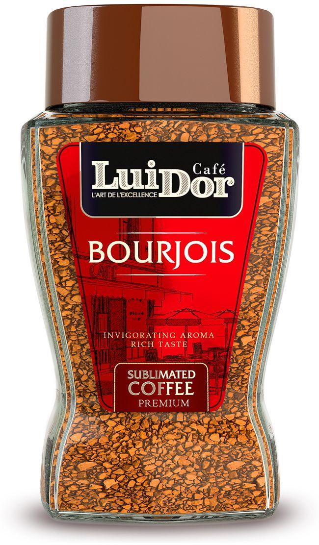 Luidor Bourgois кофе растворимый сублимированный, 95 г5060468280524Кофе LUIDOR Bourjois обладает сбалансированным купажом бразильской арабики Santos и мексиканской робусты