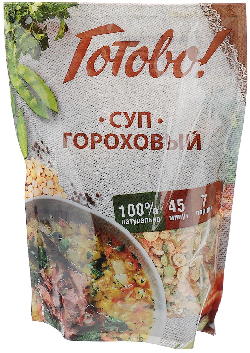 Готово Суп гороховый, 250 гДГР 7/12В продукте от компании Ярмарка воплощена домашняя рецептура блюда с использованием только натуральных ингредиентов. Суп можно приготовить на воде, но он станет еще вкуснее и ароматнее, если во время готовки добавить копченые косточки или колбаски, обжаренные бекон или сало. Уважаемые клиенты! Обращаем ваше внимание на то, что упаковка может иметь несколько видов дизайна. Поставка осуществляется в зависимости от наличия на складе.
