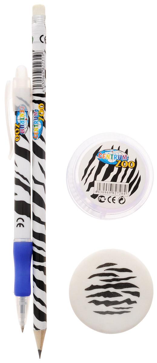 Centrum Канцелярский набор Zoo цвет черный белый 4 предмета
