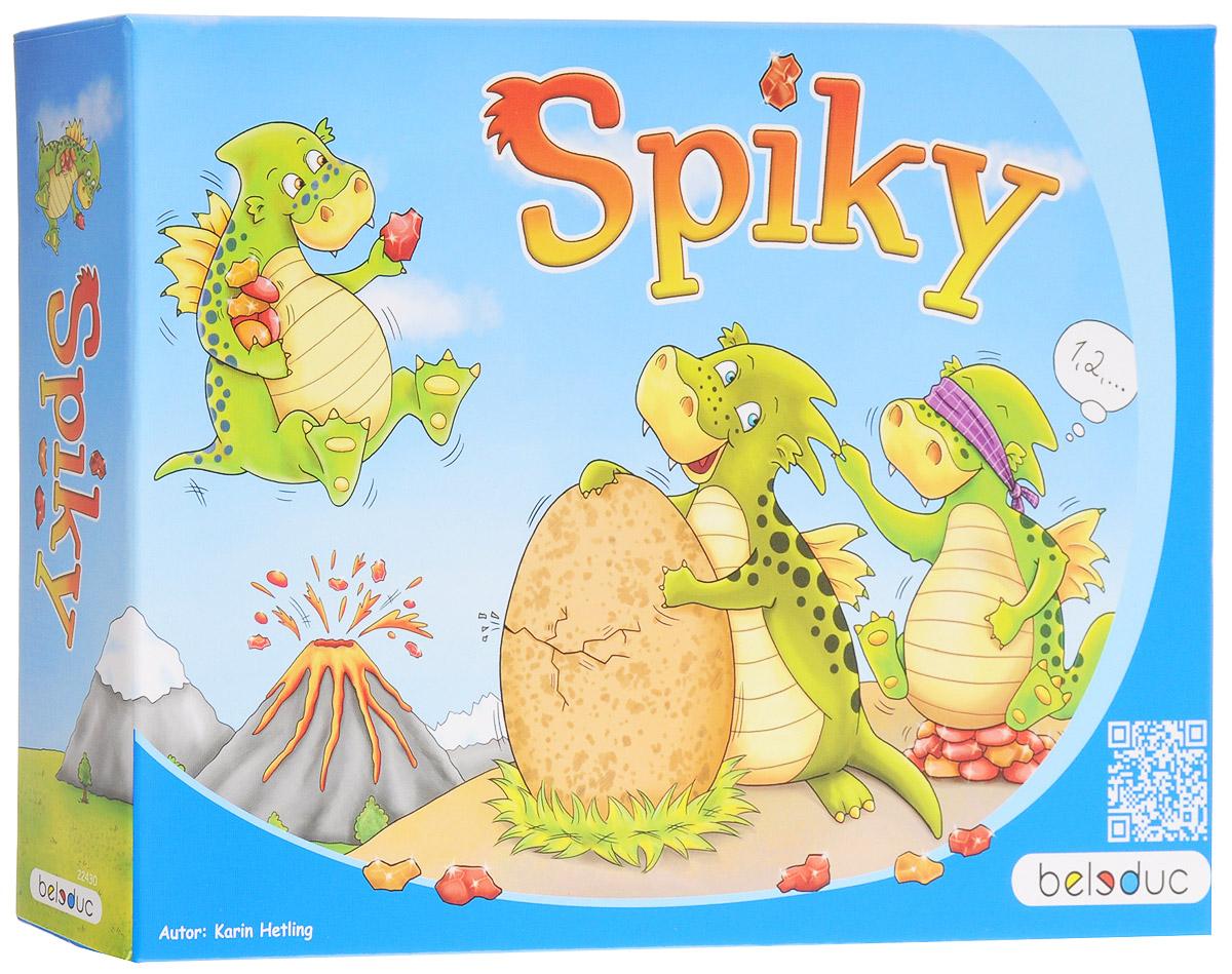Beleduc Обучающая игра Спайки22430Настоящее приключение в стране драконов! Вскоре из яйца должен вылупиться маленький дракончик. Все уже затаили дыхание в ожидании. Спайки и его друзья уже не могут дождаться, когда же он вылупится, и стерегут яйцо каждый день. Но маленький дракончик не спешит, и поэтому Спайки вместе с другими дракончиками коротают время за игрой Угадай количество наростов. При этом они смотрят друг другу в глаза и по очереди ощупывают свои наросты. Для правильного угадывания имеются огненные камни, обеспечивающие постоянное тепло в стране драконов для яйца и дракончиков. Ход игры: начинает самый маленький дракончик среди вас. Он бросает кубик, берет мешочек и пытается нащупать дракончика с выпавшим на кубике количеством наростов. При этом он считает наросты. Если вы считаете, что нащупали правильного дракончика, вынимаете его из мешочка и сравниваете. В этом вам поможет число на животе дракончика. У вас есть необходимая чувствительность на пальцах и вы первым собрали пять огненных камней?...