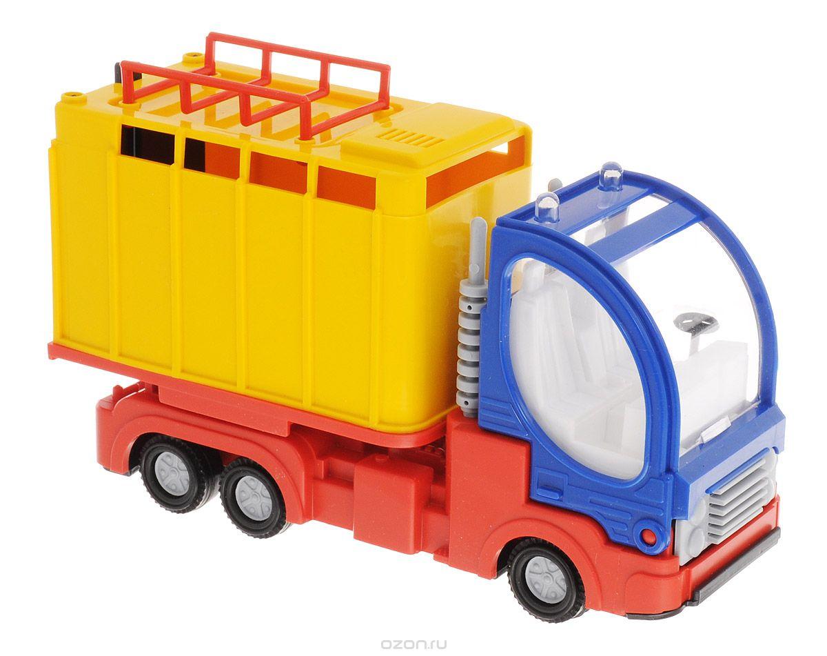 Форма Малый фургон цвет желтыйС-41-Ф_кузов желтый, кабина синяяМашинка Малый фургон от бренда Форма станет главным развлечением вашего малыша. Кабина машины откидывается вперед и можно посмотреть моторный отсек. Двери фургона открываются и в него можно положить игрушечный груз. Игрушка создана из материала высокого качества, а ее дизайн напоминает реальную технику. Такая машинка обязательно порадует вашего малыша и станет замечательным подаркам для юного покорителя дорог.