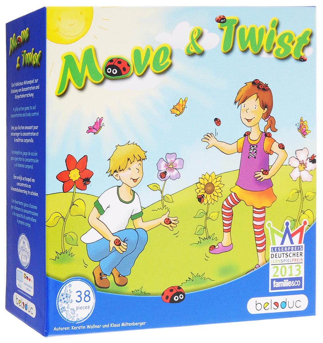 Beleduc Обучающая игра Move&Twist22421Обучающая игра Beleduc Move&Twist - это интересное интерактивное увлечение для малышей. Маленькая божья коровка хочет подняться вдоль стебля прямо к цветку. Но она не может этого сделать без помощи игроков и всевозможных активных физических упражнений. После каждого этапа, божья коровка поднимается немного выше по направлению к цветку. Помогите ей добраться до самого верха. Цель игры состоит в том, что божья коровка хочет перелететь со стебля на цветок, но она не может сделать это без помощи игроков. Игроки должны имитировать действия божьей коровки (ползать, летать). После каждого задания она продвигается все ближе и ближе к цветку. Победителем станет тот игрок, чья божья коровка быстрей доберется до цветка. Веселая динамичная игра от Beleduc Move&Twist вызовет восторг у вашего ребенка и поможет в развитие концентрации внимания и координации движений.