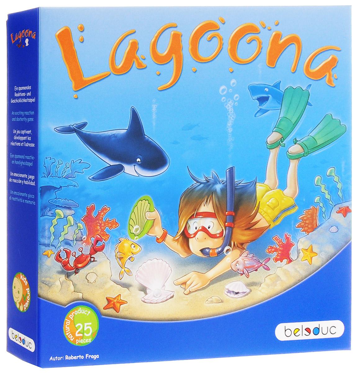Beleduc Обучающая игра Лагуна22323Обучающая игра Beleduc Лагуна - это интересное увлечение для малышей. С помощью молоточка игроки переворачивают раковины, но если под ними появляются жемчужины, игроки должны смотреть - на какой стороне плавает кит. Кита можно схватить только если совпадают цвета. Игрок, который берет кита, может поместить жемчужину на своей лодке. Игрок, первым собравший 4 жемчужины, становится победителем. Развивающая игра от Beleduc Лагуна вызовет восторг у вашего ребенка, но и поможет ему развиваться и тренировать мелкую моторику, зрительно-тактильное восприятие.