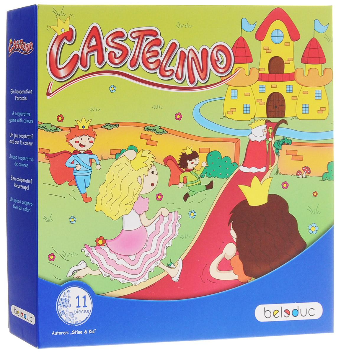 Beleduc Обучающая игра Замок Кастелино22423Обучающая игра Beleduc Замок Кастелино - это интересное увлечение для малышей от двух лет. В большом королевском дворце будет отмечаться пышный праздник. На праздник приглашены принцы и принцессы из всех уголков страны. Но все гости должны собраться перед дворцом прежде, чем король попадает в замок. Каждый игровой элемент выполнен из натурального дерева и прочного картона. Развивающая игра от Beleduc Замок Кастелино вызовет восторг у вашего ребенка, но и поможет ему развиваться и тренировать мелкую моторику, зрительно-тактильное восприятие, воображение.