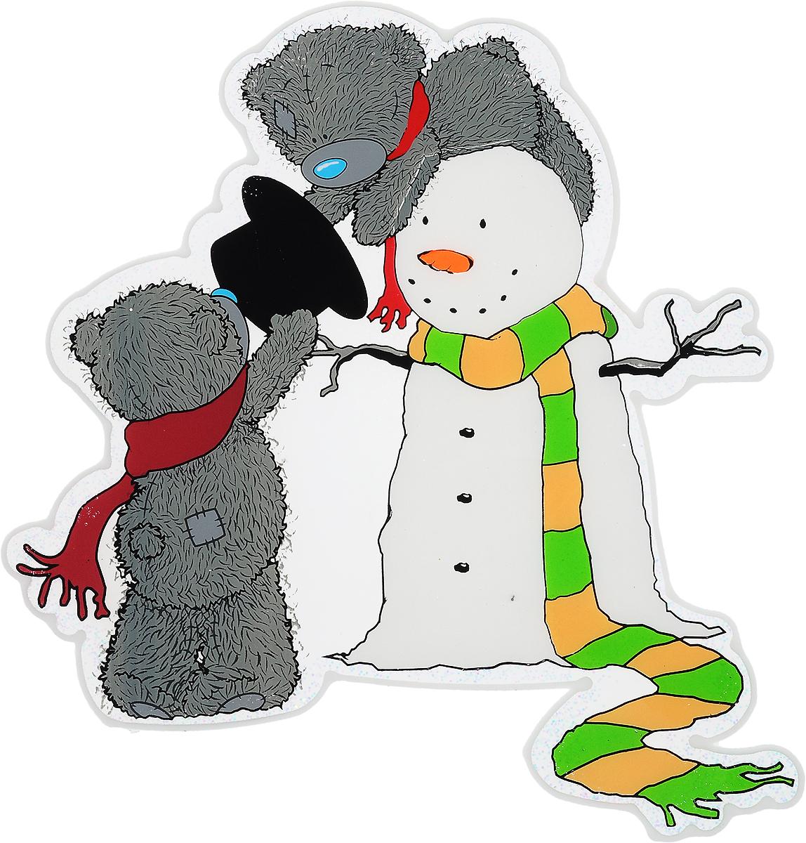 Новогоднее оконное украшение Winter Wings Me To You, 24,5 х 25,5 смMTY-N09003Новогоднее оконное украшение Winter Wings Me To You выполнено из ПВХ в виде медвежат Тедди и снеговика. С помощью гелевой наклейки Winter Wings Me To You можно составлять на стекле целые зимние сюжеты, которые будут радовать глаз, и поднимать настроение в праздничные дни! Так же Вы можете преподнести этот сувенир в качестве мини-презента коллегам, близким и друзьям с пожеланиями счастливого Нового Года!