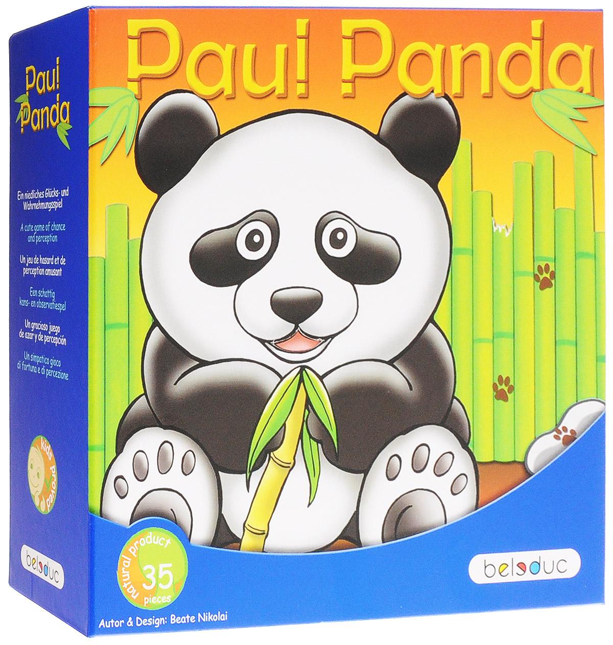 Beleduc Обучающая игра Веселая панда22322Обучающая игра Beleduc Веселая панда - милая и веселая игра на тренировку чувств восприятия. Веселая панда голодна и, конечно же, хочет выиграть игру, но это будет зависеть от того, как игрок будет действовать при посадке бамбуковых палочек и сможет ли накормить панду. Эта милая игра поможет игрокам лучше понять природу и стать более осведомленными о своей среде. Панда любит сидеть в своем маленьком бамбуковом лесу и кушать вкусные зеленые листья. К сожалению, ее лес находится в опасности, потому что дровосеки не очень далеко, и каждый день срезают бамбук, сокращая его количество. Поэтому, необходимо много дождя и солнца, чтобы бамбук мог хорошо расти, и, конечно, немного удачи. Тогда у панды будет достаточно листьев бамбука для питания, и ей не нужно будет беспокоиться о лесорубах. Вместе, мы должны поддерживать экологический баланс между человеком и природой; достаточно ли будет бамбука для всех? Игроки выполняют различные действия, которые определяются с помощью диска со...