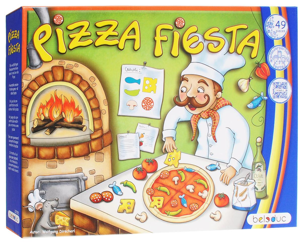Beleduc Обучающая игра Пицца Фиеста22705Кто сможет собрать все ингредиенты для своей пиццы первым? Побеждает игрок, который первым собрал две карточки. Во-первых, все ингредиенты располагают в середине стола, в пределах легкой досягаемости для всех игроков. Пачка карточек с пиццей перемешивается и размещается перед ингредиентами. Каждый игрок берет основание для пиццы и размещает перед собой. Также, каждый игрок берет по одной карте и выкладывает ее перед основанием своей пиццы. В ходе игры, каждый ребенок пытается собрать ингредиенты, указанные на его карточке с пиццей, и помещает их на основание пиццы. Игра осуществляется по часовой стрелке. Младший ребенок начинает и бросает кубик первым. Первый игрок, собравший две карты, считается победителем и Мастером Пиццы. Обучающая игра Пицца Фиеста познакомит детей с идеей здорового питания в игровой форме. Вы сможете обсуждать с детьми здоровые и не здоровые продукты. Совместный поход за продуктами и совместное приготовление пиццы являются одним из любимых...