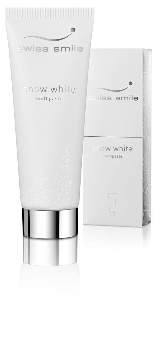 Swiss Smile Отбеливающая зубная паста Snow White, 75 мл976022-0021 отбеливающая зубная паста 75 мл, с инструкцией, оригинальная упаковка