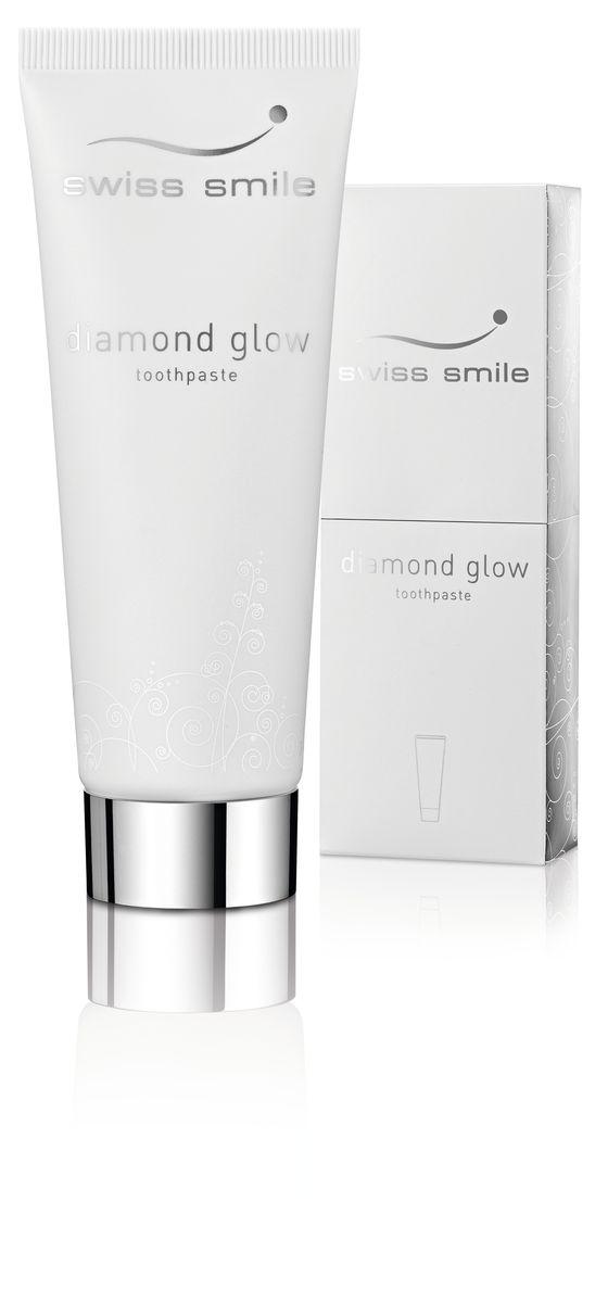 Swiss Smile Отбеливающая зубная паста Diamond Glow Brightening, 75 мл976152-0151 отбеливающая зубная паста 75 мл, с инструкцией, оригинальная упаковка