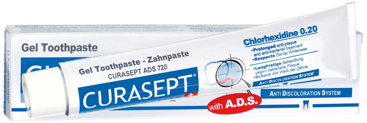 Curaden ADS 720 Паста зубная гелеобразная, 0,20% хлоргексидина (75 мл)ADS720Оказывает сильное антибактериальное действие. Снижает образование зубного налета. Рекомендуется для пациентов с ортопедическими конструкциями, а также пациентам, страдающим кариесом. Система АДС препятствует окрашиванию зубной эмали и слизистой, не вызывает раздражения, не изменяет вкусовых ощущений. Противопоказания: Повышенная чувствительность к компонентам препарата. Аллергические реакции. Регулярно консультируйтесь с врачом о необходимости продления срока применения. Особые примечания: Не глотать. Только для наружного применения. Применять под контролем врача-стоматолога. Хранить в недоступном для детей месте. Номинальное количество: 75 мл