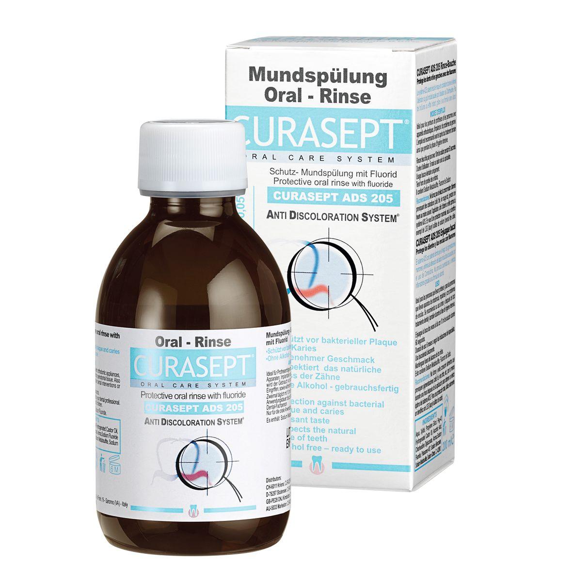 Curaden ADS 205 Жидкость-ополаскиватель, 0,05% хлоргексидина (200 мл)