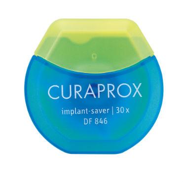 Curaprox DF 846 Нить implant межзубная эластичная из микроволокна, 30 нитей в упаковкеDF846Эластичный супер флосс из микроволокна implant saver особенно тщательно очищает критические области вокруг имплантов. Назначение: очищение десневой борозды вокруг импланта. Применение: