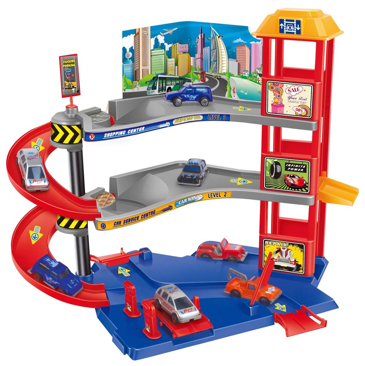Dave Toy Игровой набор Парковочная башня32029Игровой набор Dave Toy Парковочная башня - это будет отличное приобретение для вашего малыша. Все детали игрового набора выполнены из качественного безопасного для детей материала. Парковка имеет три уровня и множество съездов и заездов для машинок. Красная башня с желтой крышей соединяет все три уровня парковки. Мостики для въезда и выезда поднимаются. В комплекте с парковкой идут 3 машинки белого, черного и красного цветов. Сама парковка выполнена в приятных красных, синих, желтых и серых цветах. Процесс сборки Парковочной башни будет не менее захватывающим, чем сама игра. Играя в этот игровой набор, ваш ребенок сможет весело проводить свое время как один, так и в компании сверстников.