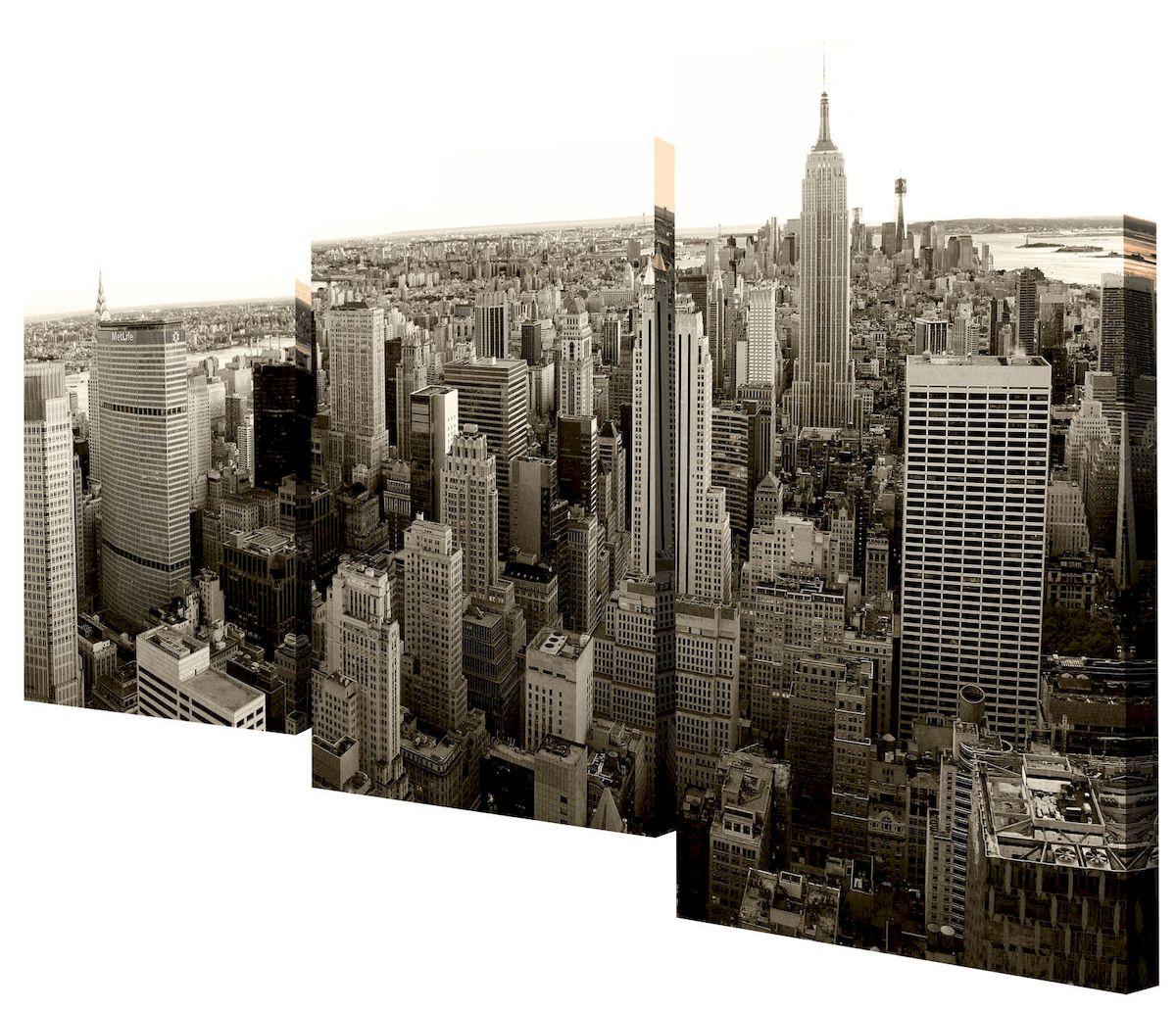 Картина модульная Toplight Город, 50 х 78 см. TL-MM1021TL-MM1021Модульная картина Toplight Город выполнена из синтетического полотна, подрамник из МДФ. Картина состоит из трех частей и выглядит очень аккуратно и эстетично благодаря такому способу оформления как галерейная натяжка. Подрамник исключает провисание полотна. Современные технологии, уникальное оборудование и цифровая печать, используемые в производстве, делают постер устойчивым к выцветанию и обеспечивают исключительное качество произведений. Благодаря наличию необходимых креплений в комплекте установка не займет много времени. Модульная картина - это прекрасная возможность создать яркий акцент при оформлении любого помещения. Изделие обязательно привлечет внимание и подарит немало приятных впечатлений своим обладателям. Правила ухода: можно протирать сухой, мягкой тканью. Размеры модулей: 26 х 31 см, 26 х 50 см, 26 х 40 см. Рекомендованное расстояние между сегментами: 1 см. Толщина подрамника: 2 см.