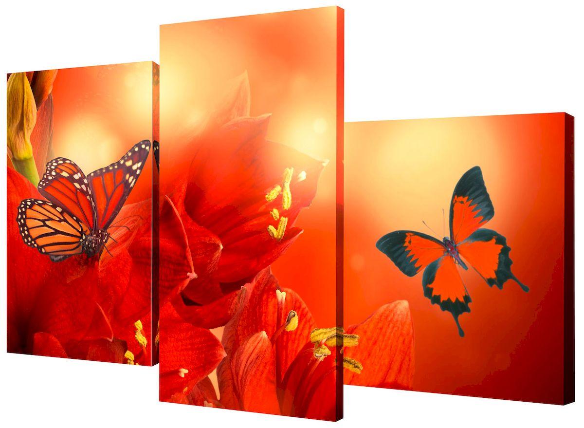 Картина модульная Toplight Цветы, 50 х 78 см. TL-MM1027TL-MM1027Модульная картина Toplight Цветы выполнена из синтетического полотна, подрамник из МДФ. Картина состоит из трех частей и выглядит очень аккуратно и эстетично благодаря такому способу оформления как галерейная натяжка. Подрамник исключает провисание полотна. Современные технологии, уникальное оборудование и цифровая печать, используемые в производстве, делают постер устойчивым к выцветанию и обеспечивают исключительное качество произведений. Благодаря наличию необходимых креплений в комплекте установка не займет много времени. Модульная картина - это прекрасная возможность создать яркий акцент при оформлении любого помещения. Изделие обязательно привлечет внимание и подарит немало приятных впечатлений своим обладателям. Правила ухода: можно протирать сухой, мягкой тканью. Размеры модулей: 26 х 31 см, 26 х 50 см, 26 х 40 см. Рекомендованное расстояние между сегментами: 1 см. Толщина подрамника: 2 см.