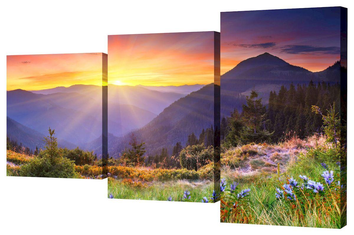 Картина модульная Toplight Пейзаж, 50 х 78 см. TL-MM1030TL-MM1030Модульная картина на холсте Toplight Триптих. Пейзаж - это прекрасное решение для декора помещения. Картина состоит из трех частей (модулей), объединенных общей тематикой. Изображение переходит из одного модуля в другой. Картина вешается на стену при помощи металлических петель, расположенных на подрамнике. Такая картина будет потрясающе смотреться в любой комнате. Она привнесет в интерьер яркий акцент и сделает обстановку комфортной и уютной. Яркие краски и интересное оформление обязательно понравятся вашему малышу. В комплект входят 3 зубчатых подвеса и 6 саморезов. Размер 1 части: 26 х 31 см. Размер 2 части: 26 х 50 см. Размер 3 части: 26 х 40 см. Толщина подрамника: 2 см.