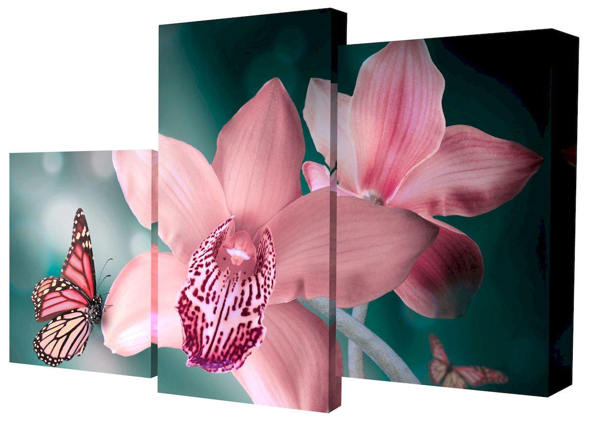 Картина модульная Toplight Цветы, 50 х 78 см. TL-MM1037TL-MM1037Модульная картина Toplight Цветы выполнена из синтетического полотна, подрамник из МДФ. Картина состоит из трех частей и выглядит очень аккуратно и эстетично благодаря такому способу оформления как галерейная натяжка. Подрамник исключает провисание полотна. Современные технологии, уникальное оборудование и цифровая печать, используемые в производстве, делают постер устойчивым к выцветанию и обеспечивают исключительное качество произведений. Благодаря наличию необходимых креплений в комплекте установка не займет много времени. Модульная картина - это прекрасная возможность создать яркий акцент при оформлении любого помещения. Изделие обязательно привлечет внимание и подарит немало приятных впечатлений своим обладателям. Правила ухода: можно протирать сухой, мягкой тканью. Размеры модулей: 26 х 31 см, 26 х 50 см, 26 х 40 см. Рекомендованное расстояние между сегментами: 1 см. Толщина подрамника: 2 см.