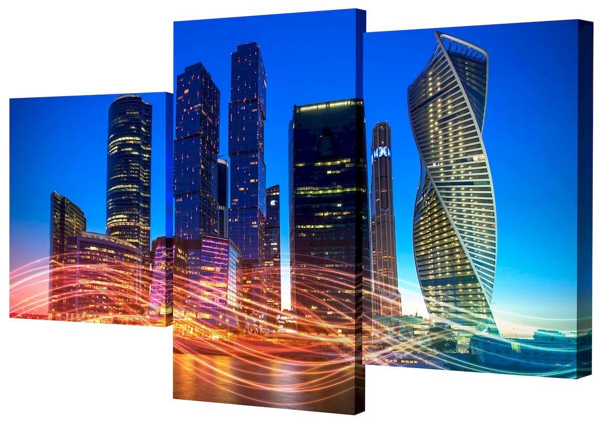 Картина модульная Toplight Город, 50 х 78 см. TL-MM1049TL-MM1049Модульная картина Toplight Город выполнена из синтетического полотна, подрамник из МДФ. Картина состоит из трех частей и выглядит очень аккуратно и эстетично благодаря такому способу оформления как галерейная натяжка. Подрамник исключает провисание полотна. Современные технологии, уникальное оборудование и цифровая печать, используемые в производстве, делают постер устойчивым к выцветанию и обеспечивают исключительное качество произведений. Благодаря наличию необходимых креплений в комплекте установка не займет много времени. Модульная картина - это прекрасная возможность создать яркий акцент при оформлении любого помещения. Изделие обязательно привлечет внимание и подарит немало приятных впечатлений своим обладателям. Правила ухода: можно протирать сухой, мягкой тканью. Размеры модулей: 26 х 31 см, 26 х 50 см, 26 х 40 см. Рекомендованное расстояние между сегментами: 1 см. Толщина подрамника: 2 см.