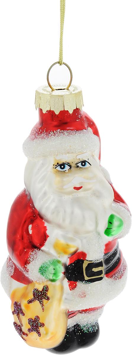 Украшение новогоднее подвесное Winter Wings Дед Мороз с мешком подарков, высота 9 смN07341Новогоднее украшение Winter Wings Дед Мороз с мешком подарков отлично подойдет для декорации вашего дома и новогодней ели. Изделие, выполненное из стекла, декорировано блестками и оснащено специальной петелькой для подвешивания. Елочная игрушка - символ Нового года. Она несет в себе волшебство и красоту праздника. Создайте в своем доме атмосферу веселья и радости, украшая всей семьей новогоднюю елку нарядными игрушками, которые будут из года в год накапливать теплоту воспоминаний.