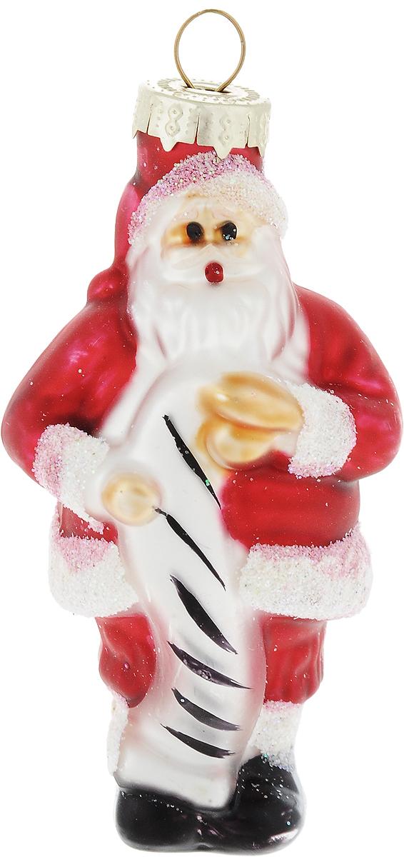 Украшение новогоднее подвесное Winter Wings Дед Мороз с поздравлением, высота 8,5 смN07356Новогоднее украшение Winter Wings Дед Мороз с поздравлением отлично подойдет для декорации вашего дома и новогодней ели. Изделие, выполненное из стекла, декорировано блестками. Елочная игрушка - символ Нового года. Она несет в себе волшебство и красоту праздника. Создайте в своем доме атмосферу веселья и радости, украшая всей семьей новогоднюю елку нарядными игрушками, которые будут из года в год накапливать теплоту воспоминаний.