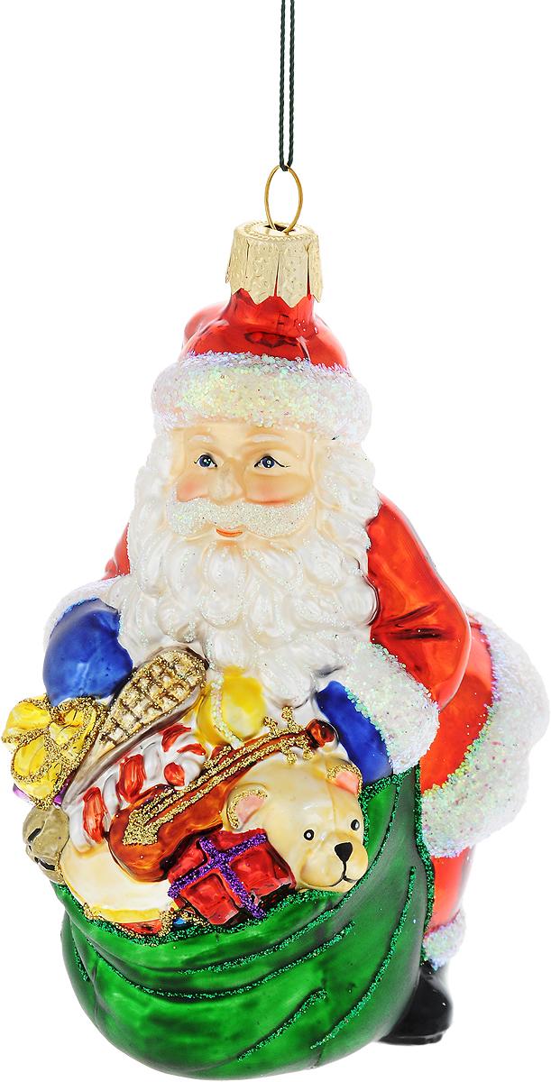 Украшение новогоднее подвесное Winter Wings Дед Мороз с подарками, высота 10 смN07115Новогоднее украшение Winter Wings Дед Мороз с подарками отлично подойдет для декорации вашего дома и новогодней ели. Изделие, выполненное из стекла, декорировано блестками и оснащено специальной петелькой для подвешивания. Елочная игрушка - символ Нового года. Она несет в себе волшебство и красоту праздника. Создайте в своем доме атмосферу веселья и радости, украшая всей семьей новогоднюю елку нарядными игрушками, которые будут из года в год накапливать теплоту воспоминаний.