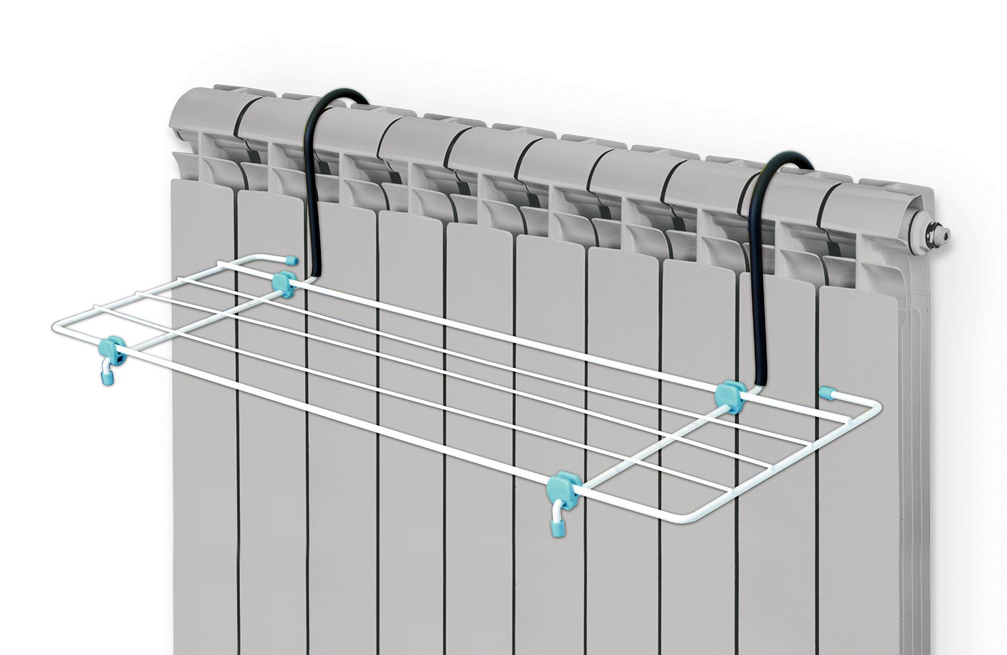 Сушилка для белья Nika на батарею, 2 мСБ5-45Материалы: металлический каркас, пластмассовые наконечники.